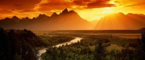 river_mountain_sunset_gold