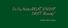 relationship drift remedy