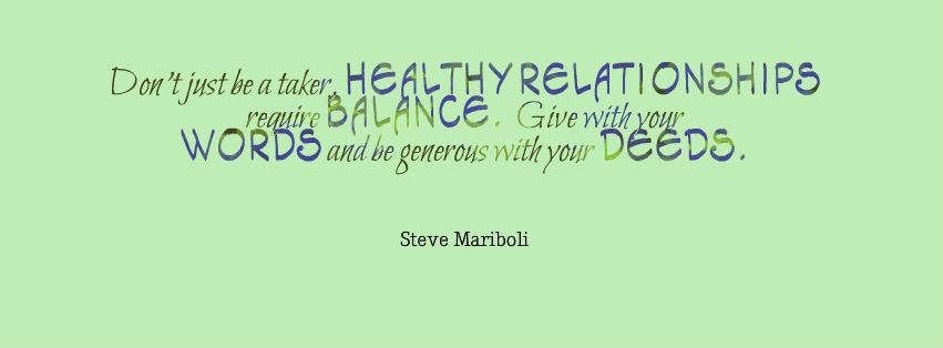 healthy relationships require balance